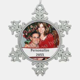 Add A Photo Holiday Snowflake Custom Ornament