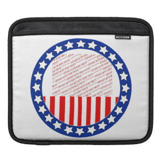Add a Photo of Your Candidate - Photo Template iPad Sleeve