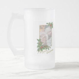 Add-A-Photo Vintage Happy Christmas Beer Mug