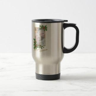 Add-A-Photo Vintage Happy Christmas Coffee Mug