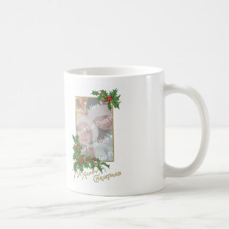 Add-A-Photo Vintage Happy Christmas Mug