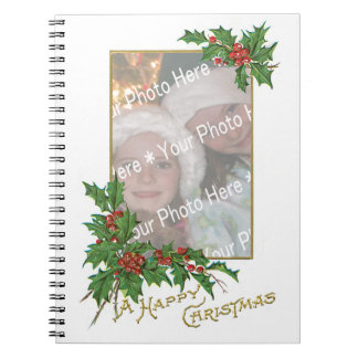 Add-A-Photo Vintage Happy Christmas Journals