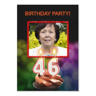 Add a picture, 46th Birthday party Invitation