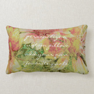 add a quote pillow shabby chic faded flowers
