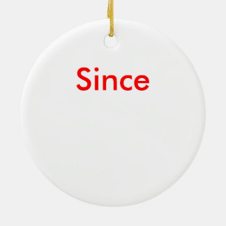 Add a Sober Date to this Christmas Ceramic Ornament