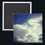 "Add A Square Photo Magnet<br><div class=""desc"">Bright blue and white cloudscape square format photo. Replace with your own square format photo to create your own gift.</div>"