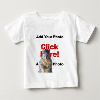 Add A Squirrel Custom Photo Baby T-Shirt