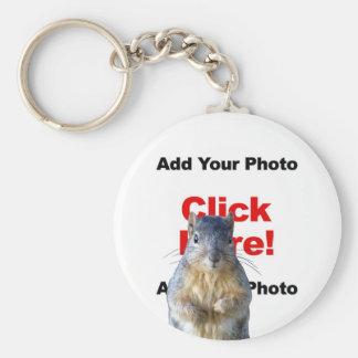 Add A Squirrel Custom Photo Keychain