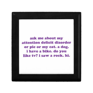 ADD ADHD Funny Quote - Purple Gift Boxes