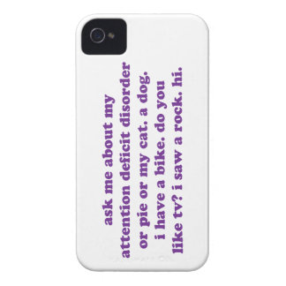 ADD ADHD Funny Quote - Purple iPhone 4 Case