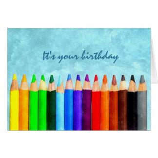Add Any Age Fun Watercolor Birthday Greeting Card