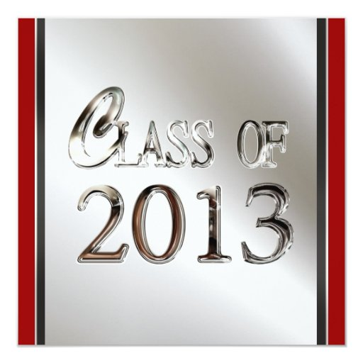 Add Any Color 2013 Graduation Party Invitations