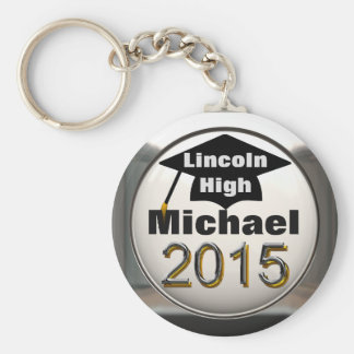 Add Any Name 2015 Graduation Silver Keychain