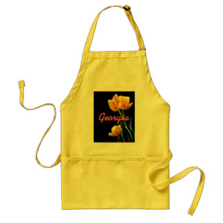 Add Any Name Pretty Spring Tulips Apron