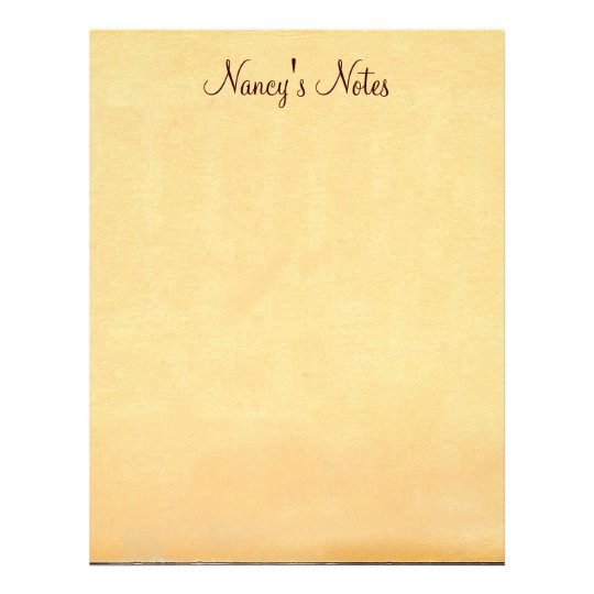 Add Any Name's Notes Old Paper Letterhead