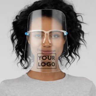 Add Any Shape Company Logo Business Branded Face Shield