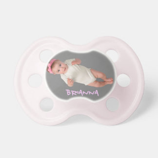 Add Baby Photo Pacifiers Pink