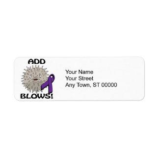 ADD Blows Awareness Design Return Address Label