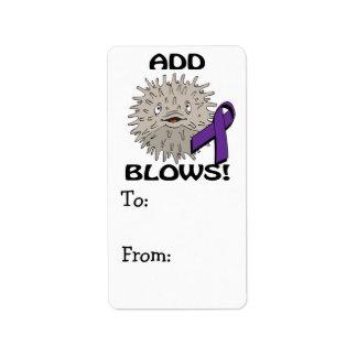 ADD Blows Awareness Design Address Label