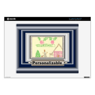 Add Child's Drawing with Custom Color Frame Skins For Laptops