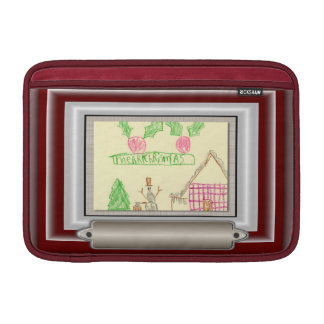 Add Child's Drawing with Custom Color Frame Sleeve For MacBook Air