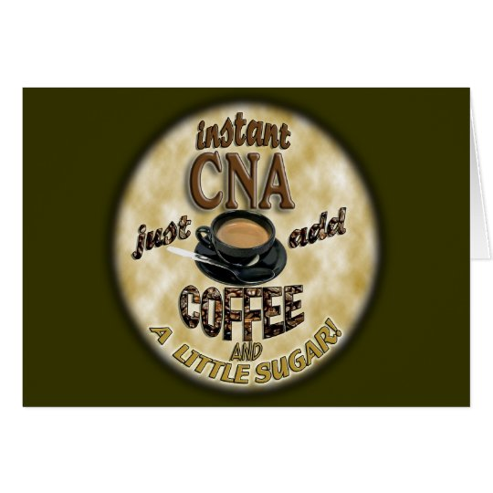 ADD COFFEE INSTANT NURSE CNA - CERTIFIED ASSISTANT CARD