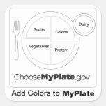 Add Colors to MyPlate White Sticker