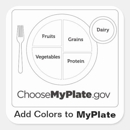 Add Colors To Myplate White Sticker Zazzle Myplate Coloring Page
