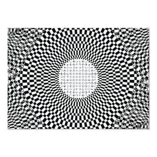 Add Custom Monogram to Optical Illusion Center 5x7 Paper Invitation Card