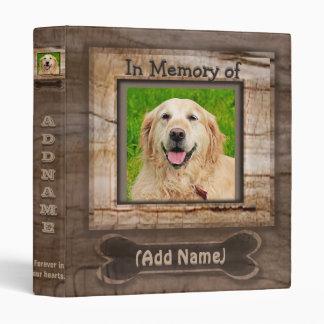 Add Dog Photo Memorial Vinyl Binder