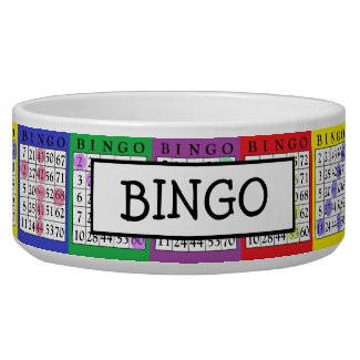 Add Dog's Name Funny BINGO Cards Dog Bowl