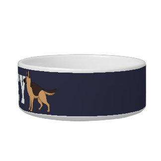 Add Dog's Name. Silly German Shepherd! Bowl