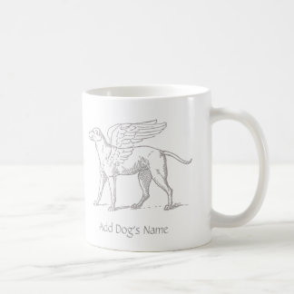 Add Dog's Name To Angel Dog Mug