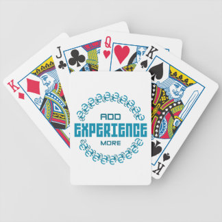 add experience more bicycle playing cards