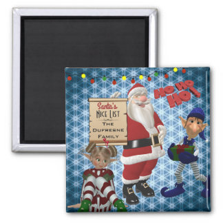 "Add Family Name ""Santa's Nice List"" Magnet"