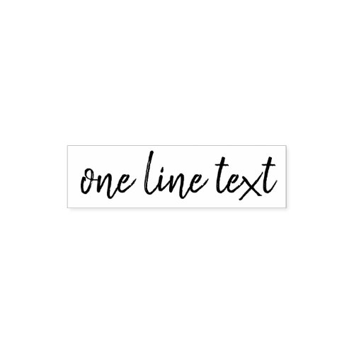 Add favorite Text _ One Line Handwritten Font Self_inking Stamp