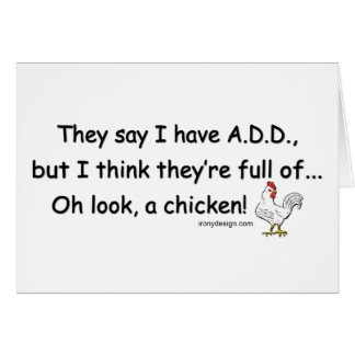 ADD Full of Chickens Card