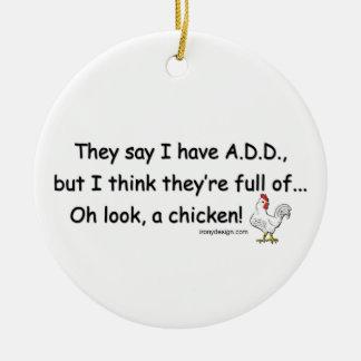 ADD Full of Chickens Ceramic Ornament