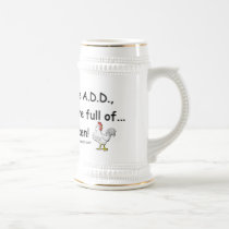 ADD Full of Chickens Humor Beer Stein