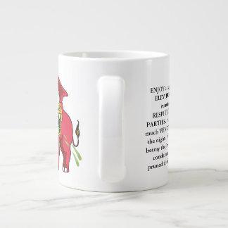 Add GOPEleviperTEA to a jumbo cautionary tale Large Coffee Mug