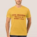 Add grandkids names to Grandpa's T-Shirt
