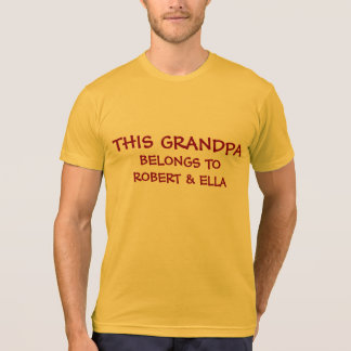 Add grandkids names to Grandpa's T-Shirt