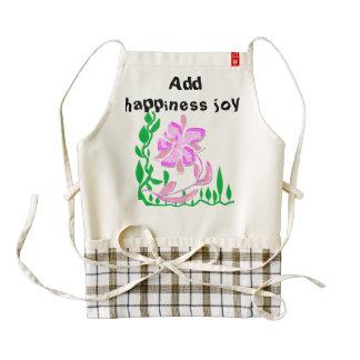 Add happiness joy zazzle HEART apron