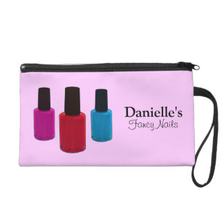 Add Her Name, Finger Nail Polish Beauty Bag Wristlets