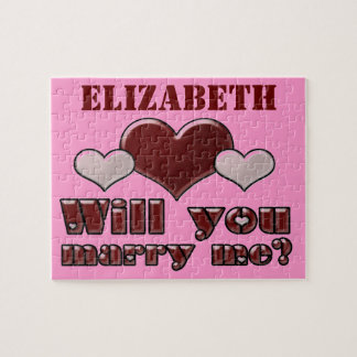 Add Her Name Will You Marry Me Puzzle