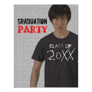 "Add Image Graduation Party Invitation 4.25"" X 5.5"" Invitation Card"