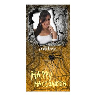 Add Image Halloween Photo Card Orange
