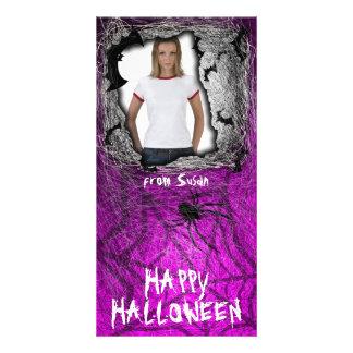 Add Image Halloween Photo Card Pink