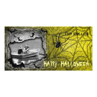 Add Image Halloween Photo Card Yellow