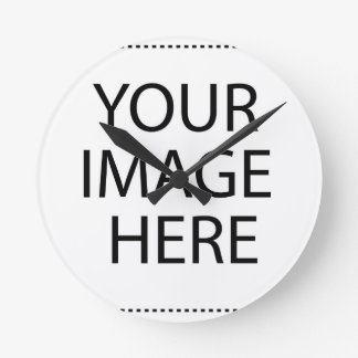 Add Image Text Logo Here Make Your Own Cool Design Round Clock